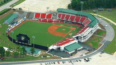 Five County Stadium. Home of the Carolina Mudcats.