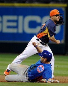 Jose Altuve, David DeJesus